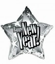 Folienballon Happy New Year Stern Ø 50cm