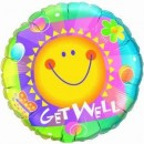 Folienballon Get Well Sun Ø 90cm