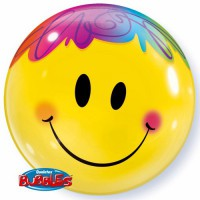 BUBBLE Ballon Smile Face Ø 56cm