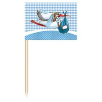 Party Picker Storch blau 50 Stk.