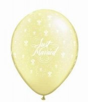 10 Rundballons Just Married Ø 13cm