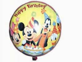 Folienballon Happy Birthday Mickey&Minnie Ø  45cm