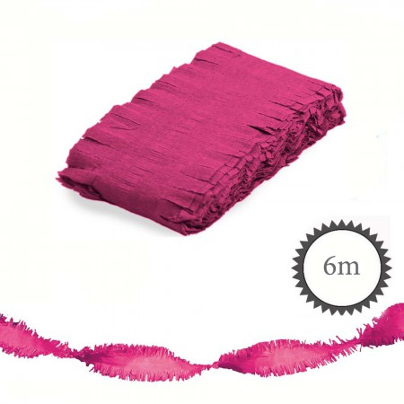 krepp girlande 6m magenta partydeko party nach farbe magenta. Black Bedroom Furniture Sets. Home Design Ideas