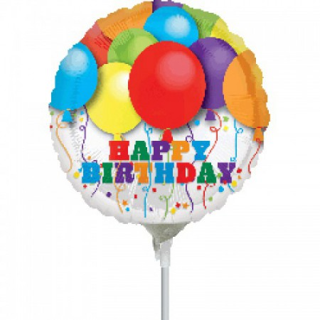 folienballon happy birthday luftballons 10cm luftballons und helium ballons folie motivballons. Black Bedroom Furniture Sets. Home Design Ideas